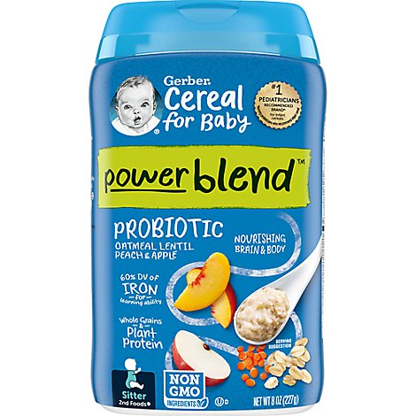 Gerb Oatmeal Peach Apple W/Probiotics - 8 Oz