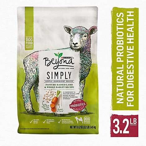 Beyond Dog Food Simply 9 Ranch Raised Lamb & Whole Barley Recipe Bag - 3.2 Lb