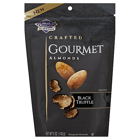 Blue Diamond Almonds Gourmet Crafted Black Truffle Pouch - 5 Oz