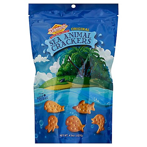 Diamond Bakery Hawaiian Sea Anml Cracker Original - 4.5 Oz