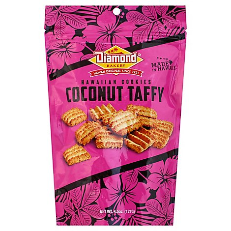 Diamond Bakery Hawaiian Cookies Coconut Taffy - 4.5 Oz