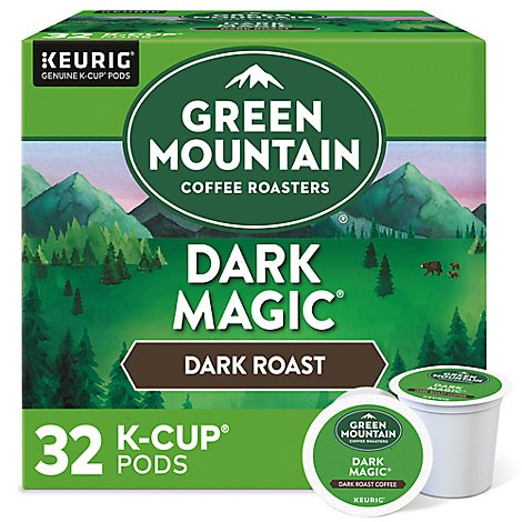 Green Mountain Coffee Roasters K Cup Pods Dark Roast Dark Magic Value Pack - 32-0.40 Oz
