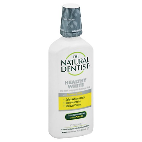 Natural D Mouthrinse Pre Brush White - 16.9 Oz
