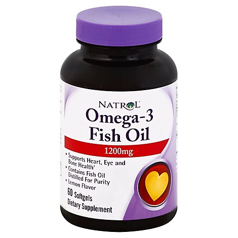 Natrol Omega-3 Fish Oil 1200mg - 60 Count