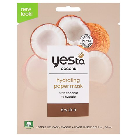 Yes To Paper Mask Coconut - 0.67 Oz