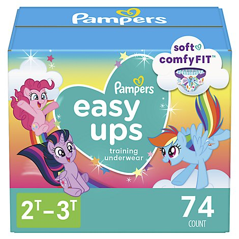 Pampers Easyup Super Girl 2t3t - 74 Count