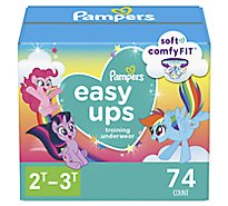 Pampers Easy Ups Training Underwear Girls Size 2T To 3T - 74 Count
