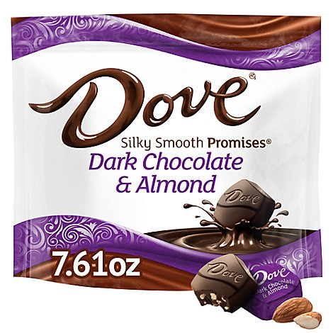 Dove Promises Candy Dark Chocolate Almond - 7.61 Oz