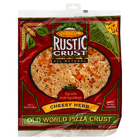 Rustic Crust 12in Cheesy Herb Pizza Crust - 13 Oz