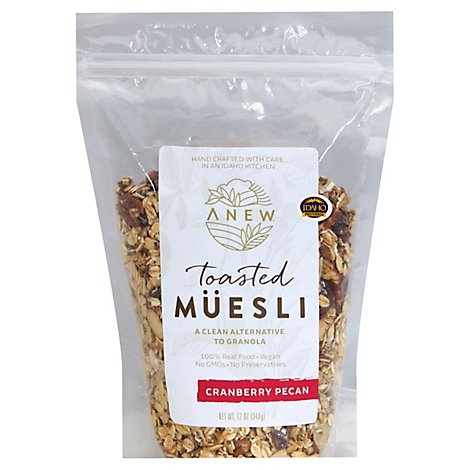 Anew Cranberry Pecan Toasted Muesli - 12 Oz
