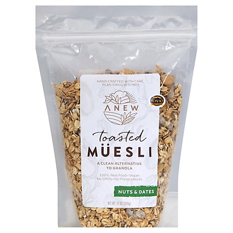 Anew Nuts & Dates Toasted Muesli - 12 Oz