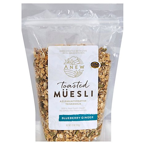 Anew Blueberry Ginger Toasted Muesli - 12 Oz