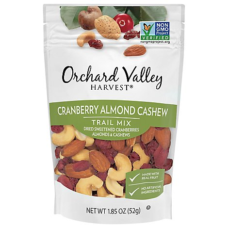 Orchard Valley Harvest Cranberry Cashew Trail Mix - 1.85 Oz