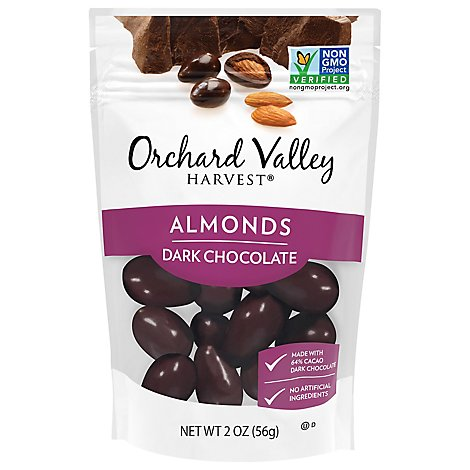 Orchard Valley Harvest Dark Chocolate Almonds - 2 Oz