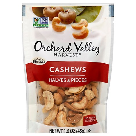 Orchard Valley Harvest Cashew Halves & Pieces - 1.6 Oz