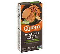 Quorn Meatless Patties Spicy Non GMO Soy Free 4 Count - 9.31 Oz