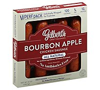 Gilberts Chicken Sausage Bourbon Apple - 10 Oz