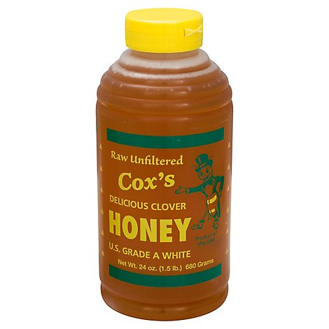 Coxs Honey Squeeze Bottle Honey - 24 Oz
