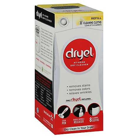 Dryel Dry Cleaner At Home Breezy Clean Scent Refill Box - 8 Count