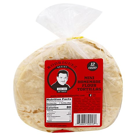 Rodriguez Bakery Tortillas Flour - 11 Oz