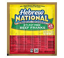 Hebrew National Franks Beef 97% Fat Free - 9.43 Oz
