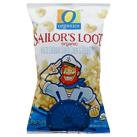 O Organics Organic Sailors Loot White Cheddar Baked Corn & Rice Puffs - 4 Oz