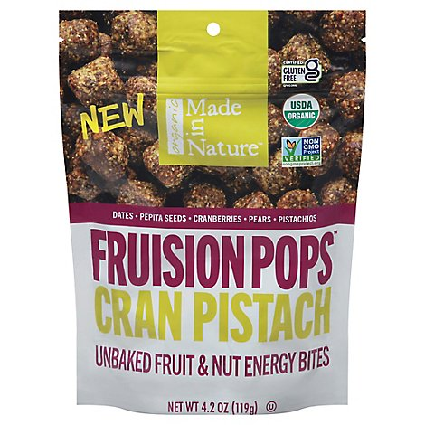 Made In Nature Organic Cranberry Pistachio Figgy Pops - 4.2 Oz.