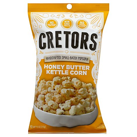 Cretors Popped Corn Honey Butter Kettle Corn - 7.5 Oz