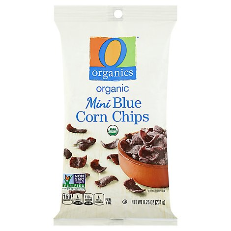 O Organics Corn Chips Blue Mini - 8.25 Oz