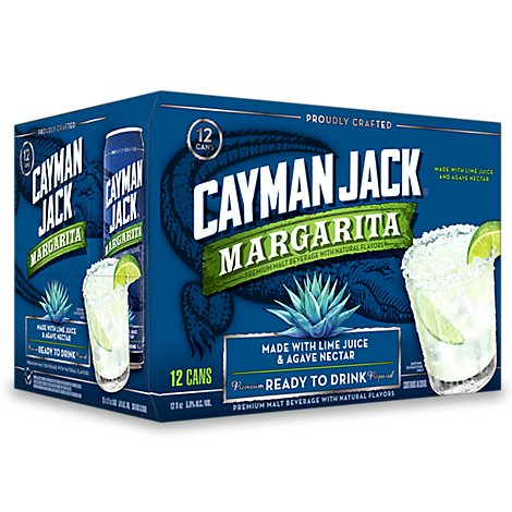 Cayman Jack Margarita In Cans - 12-12 Fl. Oz.