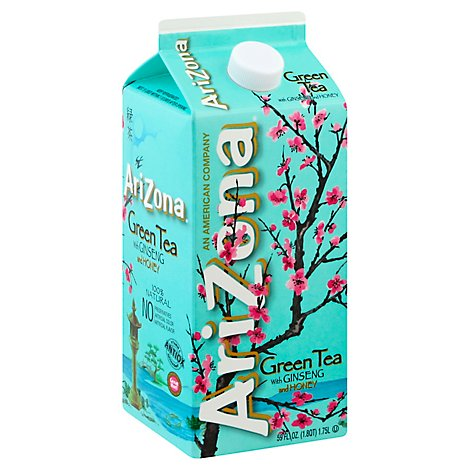 Arizona Refrigerated Green Tea With Honey & Ginseng - 59 Fl. Oz.