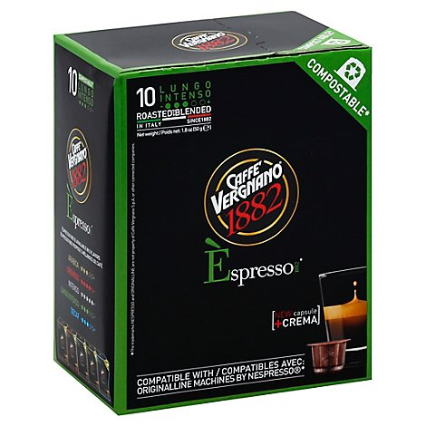 Caffe Vergnano Lungo Intenso Coffee Capsule - 1.8 Oz