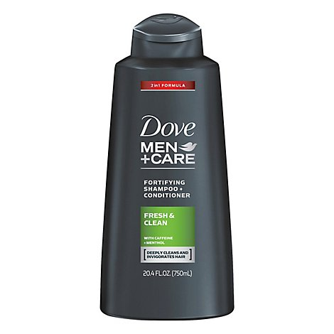 Dove Men+Care Shampoo + Conditioner 2 in 1 Fresh & Clean - 20.4 Fl. Oz.