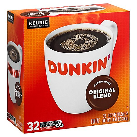 Dunkin Donuts Kcup Original Coffee - 32 Count