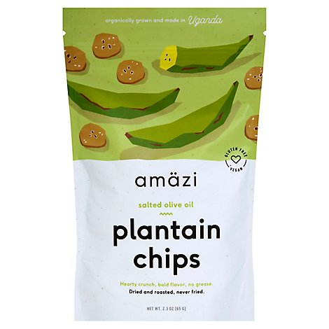 Amazi Salted Olive Oil Plantain Chips - 2.2 Oz