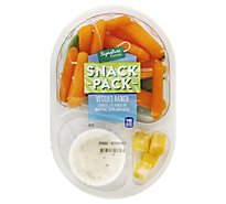 Signature Farms Snack Pk Veggies Ranch - 4.1 Oz