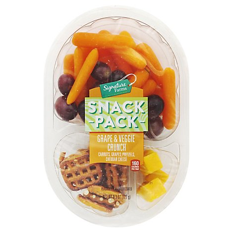 Signature Farms Snack Pk Grape & Veggie Crunch - 4.3 Oz
