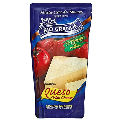 Rg Tomato Sauce With Cheese - 8 Oz