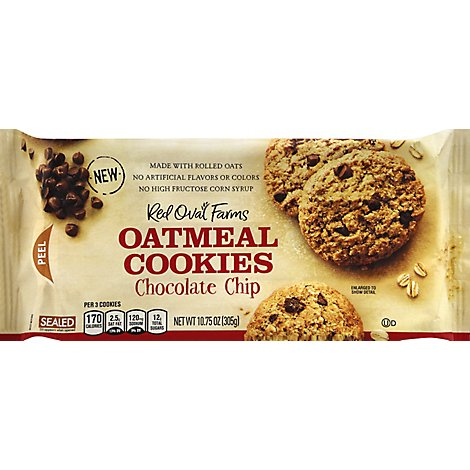 Red Oval Farms Cookies Oatmeal Chocolate Chip 1x10.76 Oz - 10.75 Oz