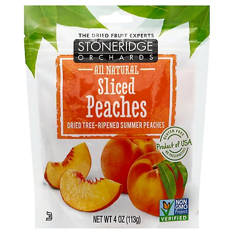 Stoneridge Orchards Peaches Sliced Dried All Natural Pouch - 4 Oz
