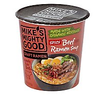 Mikes Mig Soup Cup Beef Spicy Org - 1.8 Oz