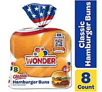 Wonder Hamburger Buns - 15 Oz