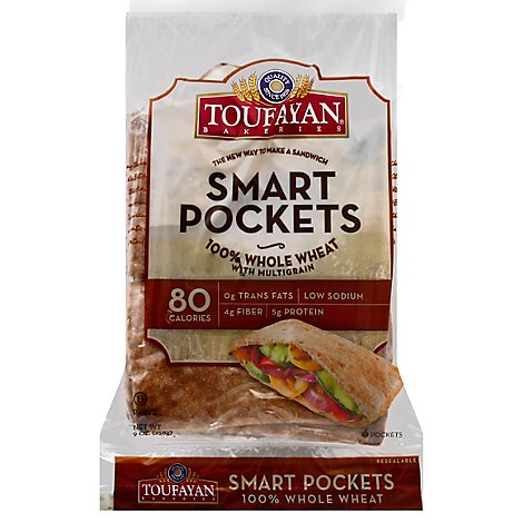 Smart Pocket Whole Wheat - 9 Oz