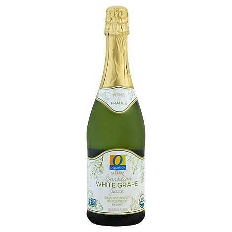 O Organics Organic Juice Sparkling White Grape - 25.4 Fl. Oz.