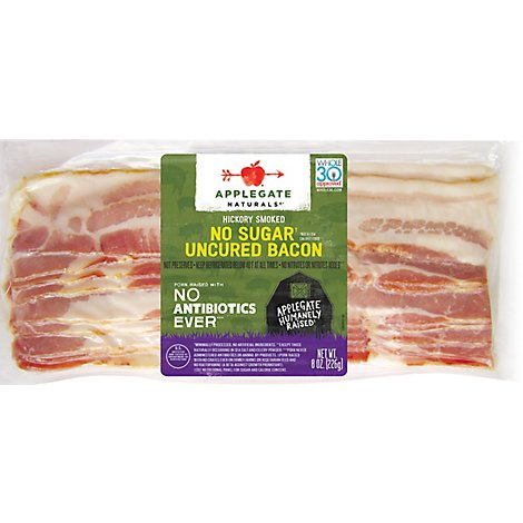 Applegate Natural No Sugar Uncured Bacon - 8oz