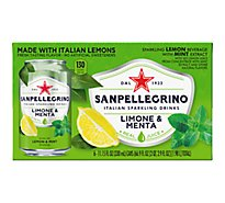 SANPELLEGRINO Sparkling Fruit Beverage Lemon With Mint Extract - 6-11.15 Fl. Oz.