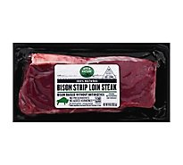 Open Nature Bison Steak Ny Loin - 10 Oz