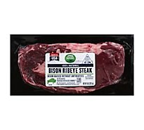 Open Nature Bison Steak Ribeye Boneless - 10 Oz