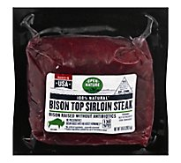 Open Nature Bison Steak Top Sirloin - 10 Oz
