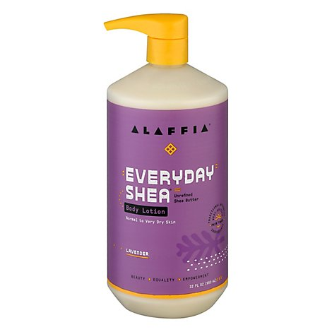 Alaffia Body Lotion Evrydy Lavndr - 32 Fl. Oz.